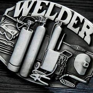 "New welder belt buckle approximately 4"""